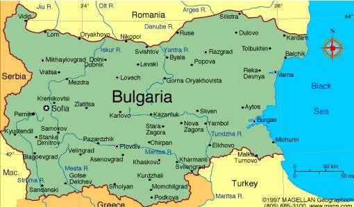 Obryadii00 Map Of Bulgaria And Romania